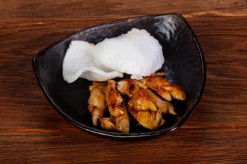 Chicken breast with teriyaki sauce