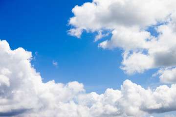 Nature of White cloud on the blue sky.