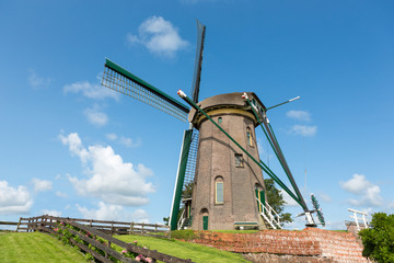 "The dutch historic windmill ""Lijkermolen"" in Rijpwetering."