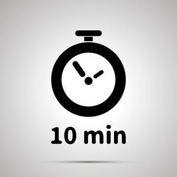 Ten minutes timer simple black icon