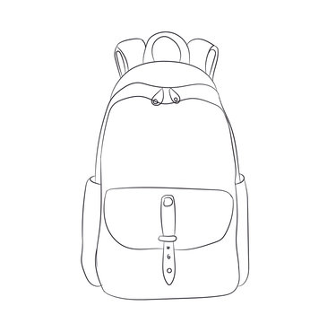 backpack lines, vector