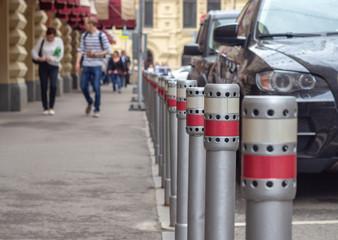 Parking sidewalk columns