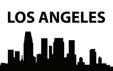 Los Angeles city silhouette background