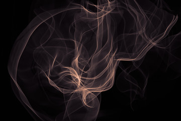 Abstract smoke. Pattern of soft waveforms.