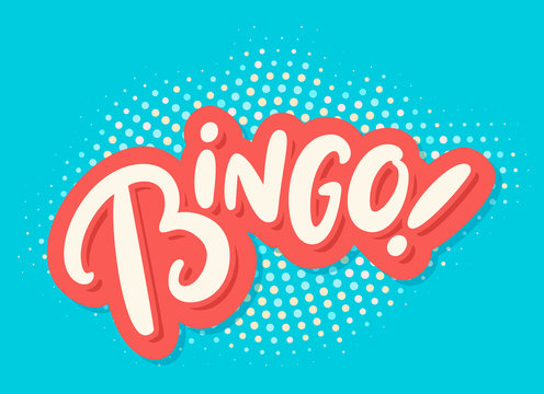 Bingo. Vector lettering.