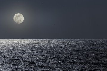 Full mioon night at the sea