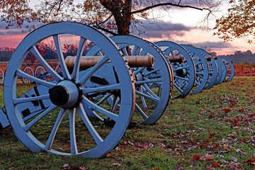 Valley Forge Cannons at Sunrise