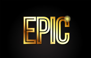 epic word text typography gold golden design logo icon