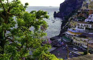Beautiful view of Positano city in Amalfi Coast, Italy