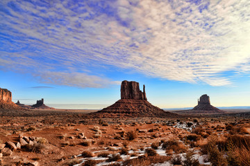 Fototapete - Early Morning Monument Valley Arizona Navajo Nation