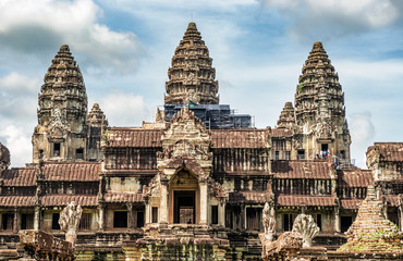 View at Angkor Wat temple complex fromTa Kou entrance.