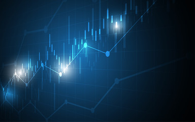 Financial chart candle stick graph business data analysis of stock market investment trading