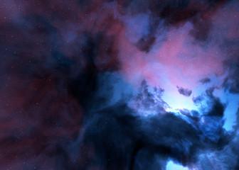 nebula space stars sky illustration background