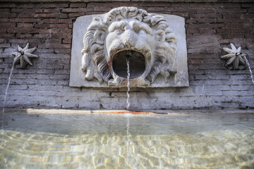 Fountain at Parco Adriano in Rome, Italy