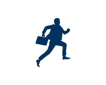 Run Business man silhouette