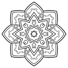 Ornamental simple mandala.