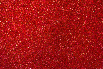 Beautiful red glitter macro abstract background with bokeh Fotoväggar