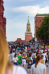 Football fans on Red Square