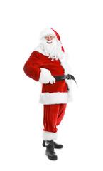 Authentic Santa Claus on white background