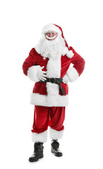 Authentic Santa Claus on white background