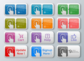 Infographics Web Banner & Tap Buttons
