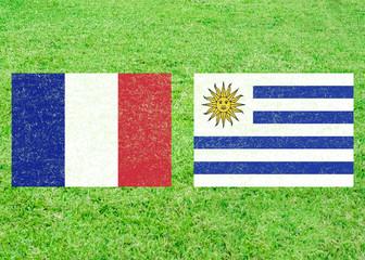 France vs Uruguay Sports Background