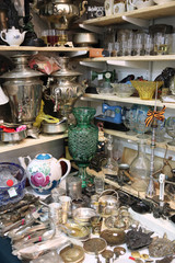 Many different things at the flea market