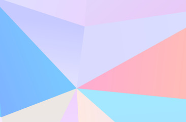 The combination of colored geometric shapes. Minimal design. Light Pink, Blue color  Wall mural