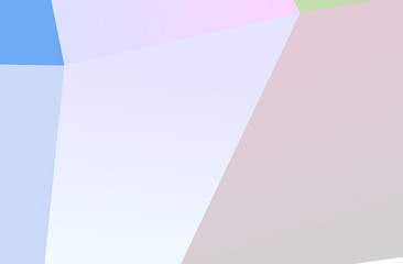 The combination of colored geometric shapes. Minimal design. Light Pink, Blue color