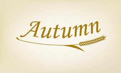 Autumnと麦のシンボル