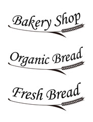 麦とパンにまつわる文字のシンボル