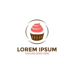 unique bakery logo template. cake