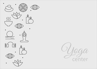 set yoga icons