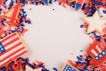 Patriotic confetti of 4th of July.