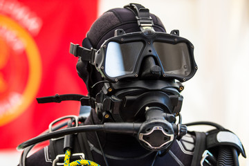 Tactical diving helmet of combat diving suit for police and army diving missions