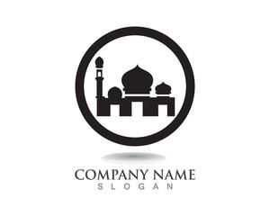 Mosque icon vector Illustration design template