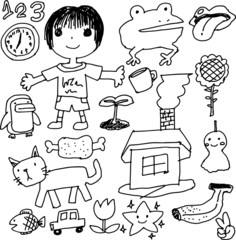Children's graffiti drawing 1