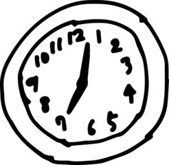 hildren of graffiti-style clock