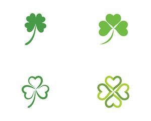 Green Clover Leaf Logo Template