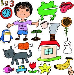 Colorful Children's graffiti drawing set 1