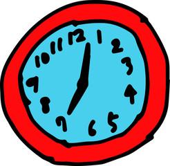 Colored Children of graffiti-style clock