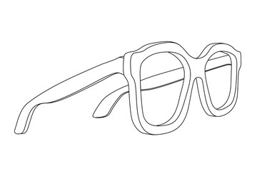 Glasses. Outline icon