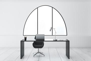 White modern home office interior