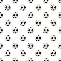 Soccer ball  pattern seamless repeat in cartoon style vector illustration