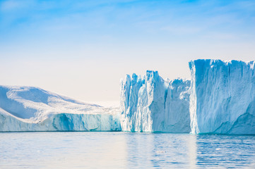 Big icebergs in Ilulissat icefjord, Greenland