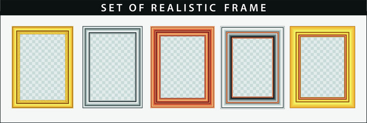 set of realistic gold frame. easy to modify