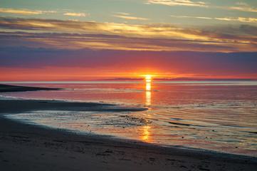 Sunset  White Sea
