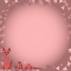 creative pink cats on a pink background