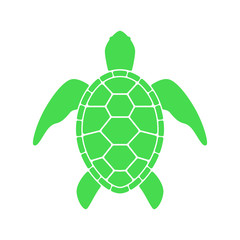 Sea turtle. Turtle silhouette. Vector icon isolated on white background.