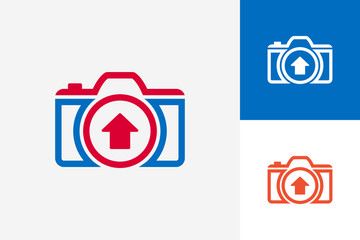 Upload Camera Logo Template Design Vector, Emblem, Design Concept, Creative Symbol, Icon